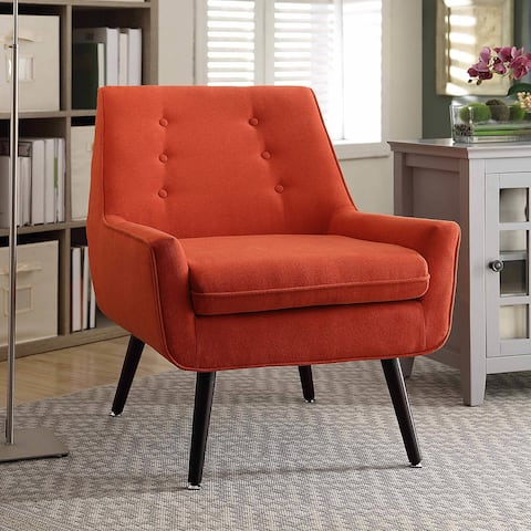 Liz Pimento Mid-Century Button-Tufted Chair
