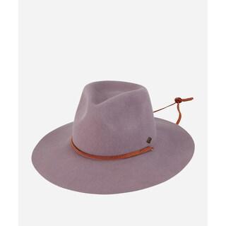 San Diego Hat Company Mens Wide Brim Felt W/ Chin Cord-Grey-XL