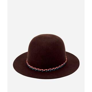 San Diego Hat Company Mens Felt W/ Double Braid Band-Brown-M