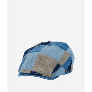 San Diego Hat Company Mens Patchwork Denim Driver-Denim-XL