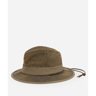 San Diego Hat Company Mens Distressed Chincord Fedora-Brown