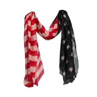 Xehar Womens American Flag Scarf