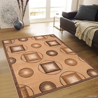 "Berber Modern And Chic Shape Design Area Rug (5' 2"" X 7' 2"")"