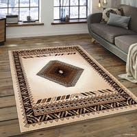 "Allstar Ivory Woven Traditional Southwest Contemporary Rug - 5' 2"" X 7' 2"""