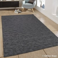 Allstar Charcoal Wool Extra Soft Traditional Persian Design Rug (5' X 7')