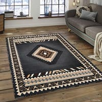 "Allstar Grey Woven Traditional Southwest Contemporary Rug (5' 2"" X 7' 2"")"