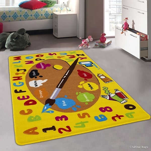 Allstar Kids Learn ABC/ Paint Brush For Artists/ Painters Rug