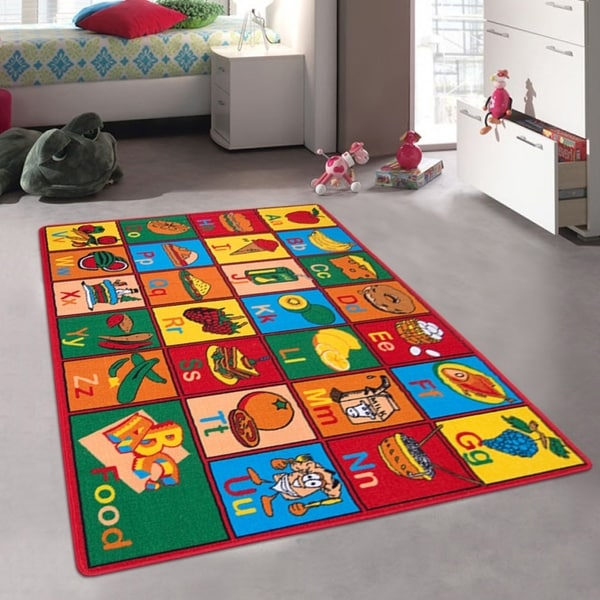 Shop Allstar Kids Learn Alphabet Letters With Fruits Rug