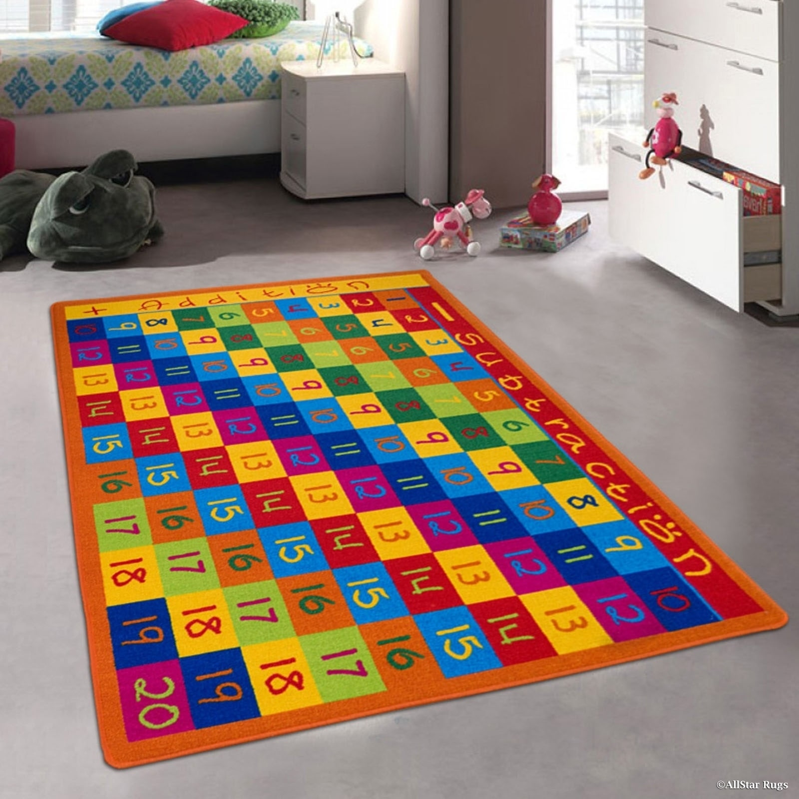 """Allstar Kids Numbers Chart With Cubes Rug (4' 11"""" X 6' 11..."""