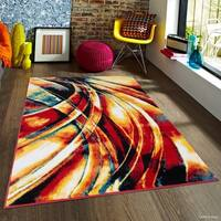 "Allstar Woven Modern Abstract Distressed Design Rug (5' X 6' 11"")"