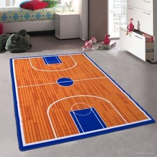 """Allstar Kids Basketball Court For Kids Room Rug (4' 11"""" X 6' 11"""")"""