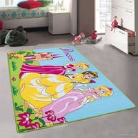 "Allstar Kids Princess Bright Colorful Vibrant And Colors Rug - 4' 11"" X 6' 11"""