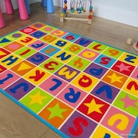 Allstar Kids Letters/ Numbers/ Vibrant Colors/ Shapes Rug - Multi
