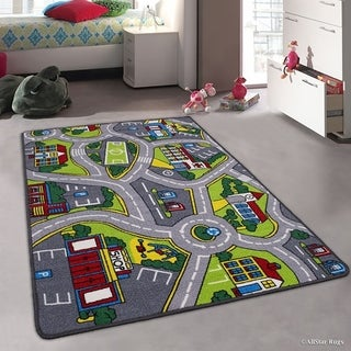 """Allstar Kids Street Map With Vibrant Colors Rug (4' 11"""" X 6' 11"""")"""