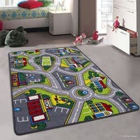 Allstar Kids Street Map With Vibrant Colors Rug - Multi