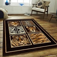 Allstar Black High Density Exotic Animal Skin/ Head Rug