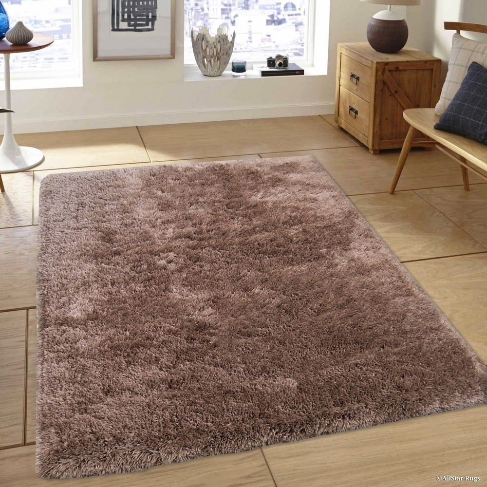 Non Shedding Soft Solid Shaggy Rug