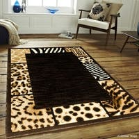 Allstar Black High Density Double Shot Exotic Animal Skin Rug