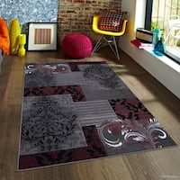 Purple Modern Assorted Persian Floral Design Area Rug
