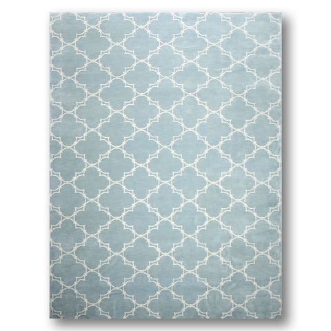 Contemporary Country Cottage Tibetan Hand-knotted Area Rug (8' x 11') - 8' x 11'