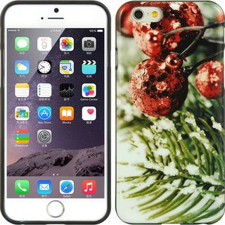 Insten Green/ Red Christmas TPU Rubber Candy Skin Case Cover For Apple iPhone 6/ 6s