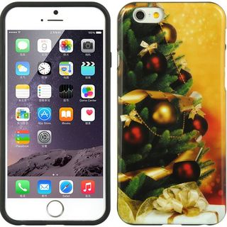Insten Green/ Yellow Christmas TPU Rubber Candy Skin Case Cover For Apple iPhone 6/ 6s