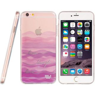 Insten Purple Wave TPU Rubber Candy Skin Case Cover For Apple iPhone 6/ 6s