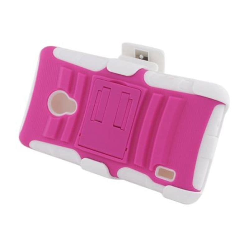 Insten Hot Pink/ White Advanced Armor Hard PC/ Silicone D...