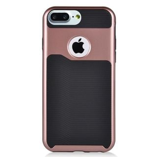Insten Black/ Rose Gold Slim Hard Snap-on Dual Layer Hybrid Case Cover For Apple iPhone 7 Plus