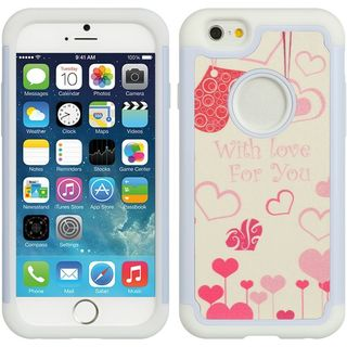 Insten White/ Pink Hard Snap-on Dual Layer Hybrid Case Cover For Apple iPhone 6/ 6s