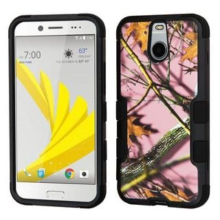 Insten Pink/ Black Oak-Hunting Tuff Hard PC/ Silicone Dual Layer Hybrid Rubberized Matte Case Cover For HTC 10 EVO / Bolt