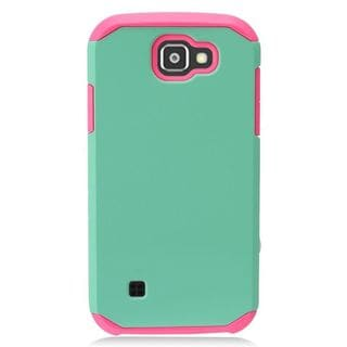 Insten Green/ Pink Hard Snap-on Dual Layer Hybrid Case Cover For LG K3 (2016) LS450