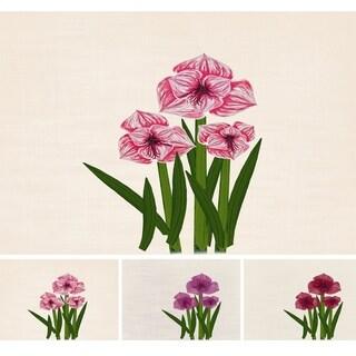 Amaryllis Purple Floral Print Indoor/Outdoor Rug (3' x 5')