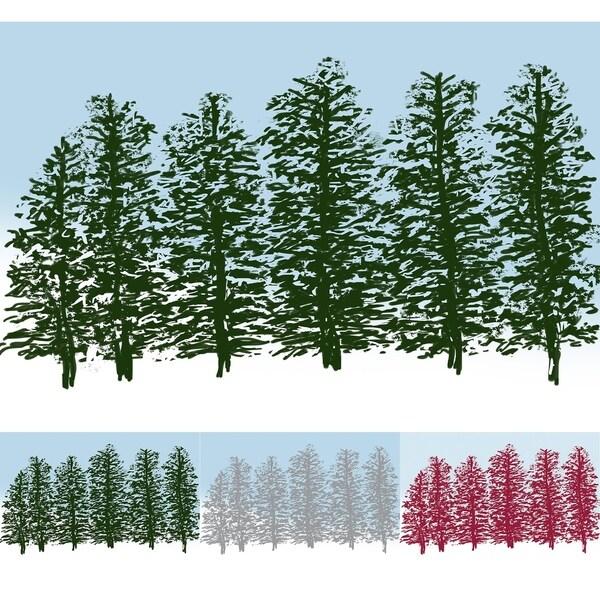 Hidden Forrest Green Floral Print Indoor/Outdoor Rug (2' x 3')