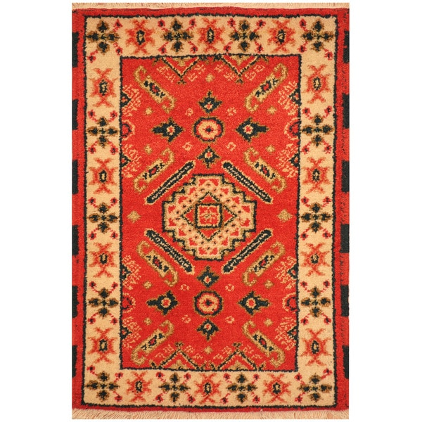 Herat Oriental Indo Hand-knotted Tribal Kazak Wool Rug (2'1 x 3')