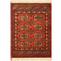Herat Oriental Pakistani Hand-knotted Bokhara Wool Rug (2' x 2'8)