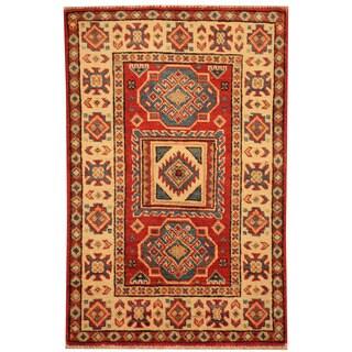 Herat Oriental Afghan Hand-knotted Tribal Super Kazak Wool Rug (2' x 3')