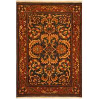 Herat Oriental Indo Hand-knotted Mahal Wool Rug (2'2 x 3'3)