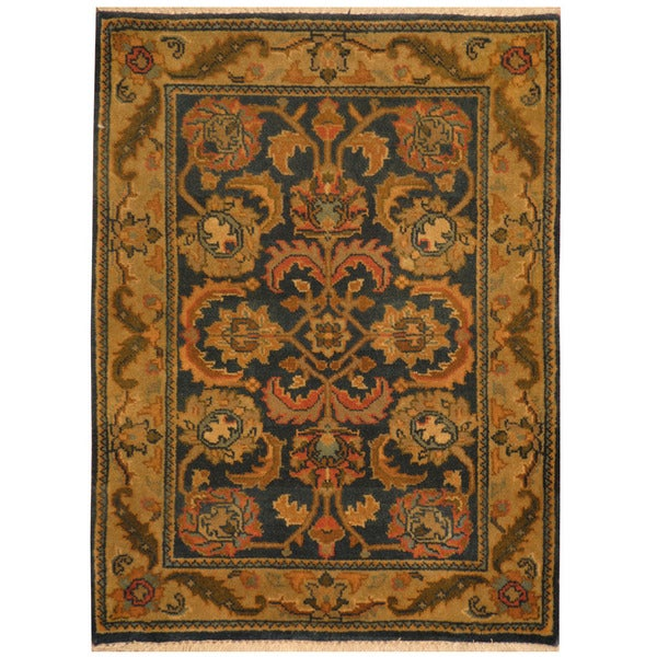 Herat Oriental Indo Hand-knotted Mahal Wool Rug (2'2 x 3')