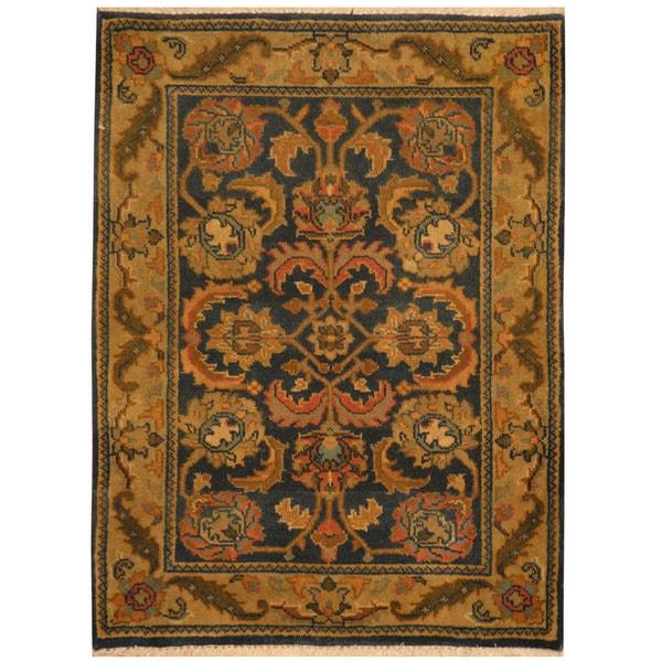 Handmade Herat Oriental Indo Mahal Wool Rug (India) - 2'2 x 3'