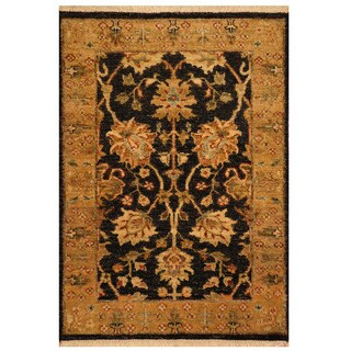 Herat Oriental Indo Hand-knotted Mahal Wool Rug (2'1 x 3')