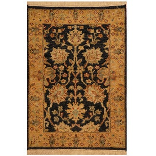 Herat Oriental Indo Hand-knotted Mahal Wool Rug (2' x 3')