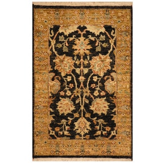 Herat Oriental Indo Hand-knotted Mahal Wool Rug (2' x 3'1)