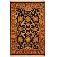 Handmade Herat Oriental Indo Mahal Wool Rug (India) - 2'2 x 3'4