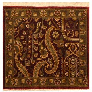 Herat Oriental Indo Hand-knotted Mahal Wool Rug (2'2 x 2'4)