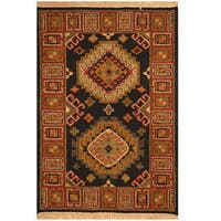 Handmade Herat Oriental Indo Mahal Wool Rug - 2' x 3' (India)