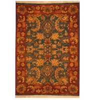 Herat Oriental Indo Hand-knotted Mahal Wool Rug (2'2 x 3'1)