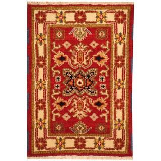 Herat Oriental Indo Hand-knotted Tribal Kazak Wool Rug (2'2 x 3')