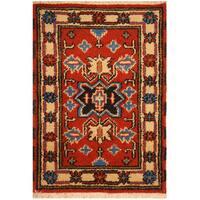 Herat Oriental Indo Hand-knotted Tribal Kazak Wool Rug (2' x 3'1)