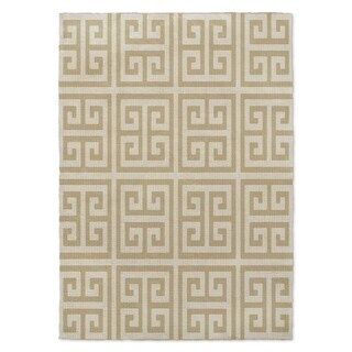 Kavka Designs Infiniti Keys Gold Area Rug (8'X10') - 8'x10'